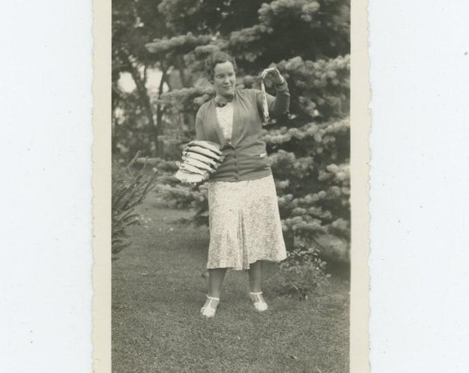 Day's Catch: Vintage Snapshot Photo [83660]