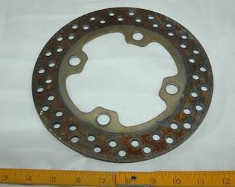 Heavy Steel Gear Steampunk Clock Rusty Vintage Misc Metal Cast