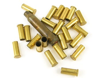 Bullet Casings Rifle Casing Spent Bullet Casing Brass Bullet Casing for Assemblage Jewelry Scrapbooking Collage Art |AN4-9|1 bag