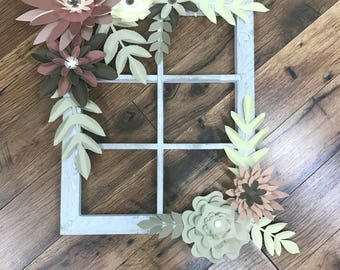 Paper Flower Window Pane
