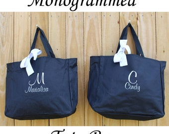 5 Personalized Bridesmaid Tote Bag Personalized Tote, Bridesmaids Gift, Monogrammed Tote, Gift for Her