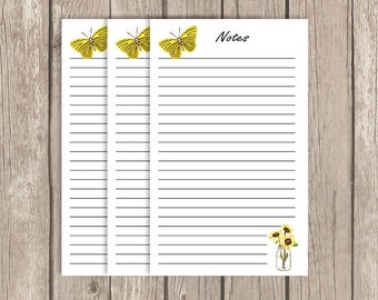 Sunflowers , personal planner Inserts, planner inserts, notes, kikki k, filofax, hexagon, floral, diary, writing