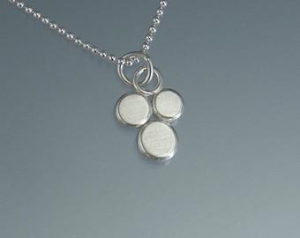 triple berries pendant handmade in Argentium silver