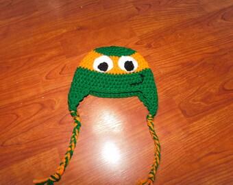 Crochet Turtle hat - Size 0 - 3 months