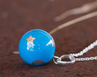 Chime Ball - Harmony Ball - Angel Caller - Mexican Bola - Bola Necklace Charm - Pregnancy Gift - Sterling Silver - Sphere Pendant Only