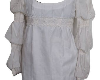 Vintage Boho Puffy Sleeve Dress
