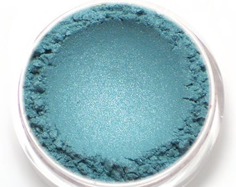 "Blue Eyeshadow Shimmer - ""Atlantis"" - Frosty Aqua Blue - Natural Vegan Mineral Eyeshadow"