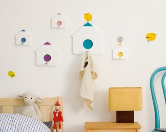 IKhaya Birdhouse clothes hooks + Bumoon stickers