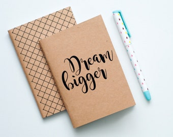Pocket Sized Notebook Booklet - Dream Bigger (SET OF 2)