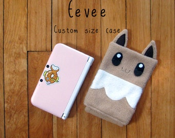JULY PREORDER 3ds XL Case / Custom Size Pokemon Eevee pouch carrying case new 3ds / 3ds xl / nintendo switch / psp vita holder cozy