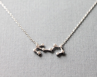 Scorpio Constellation Necklace,Scorpio Necklace, Zodiac Scorpio,Scorpio Pendant, Constellation Jewelry