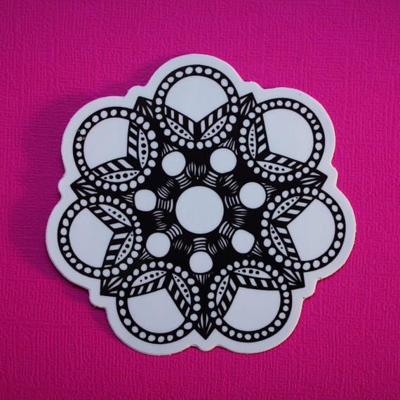 Circles on Circles Sticker (WATERPROOF)