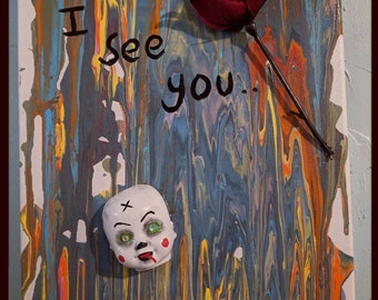 Ooak creepy doll assemblage art