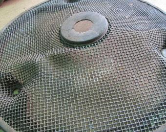 Salvaged Metal Screen Industrial Metal Rusty Gears Recycled Metal Art Rustic garden decor