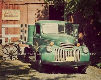 Vintage Truck Photograph - country farm photo - vintage home decor