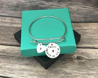 Pet charm bracelet