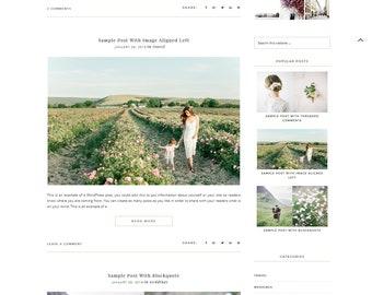 Sunbeam - Responsive Wordpress Theme Genesis Child Theme Photographer Website Minimalist Blog Feminine Template Wordpress Theme