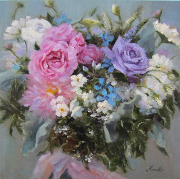 Custom Bridal Bouquet Painting//BouquetPortrait//Wedding