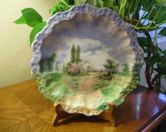 PRICE REDUCED 10%  Limoges France Landscape Plate