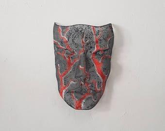 wire mesh sculpture, wire art, iron mesh sculpture, handmade mask sculpture, wire wall sculpture, israel art, metal mask, mesh face mask