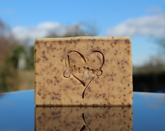 Coffee scrub natural soap