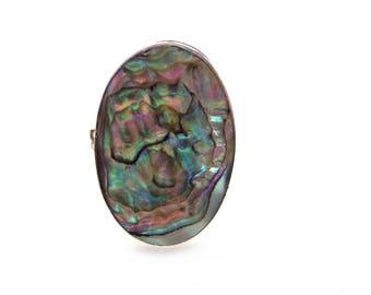 Sterling Silver Paua Shell Ring