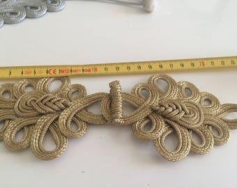 Gold Asian Brandenburg 22 cm long