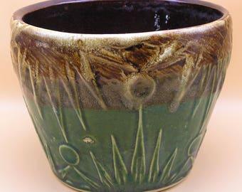 Vintage Roseville RRPCo Planter / Jardiniere, Sun Moon Pattern