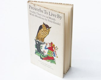 Proverbs To Live By 1968 Book