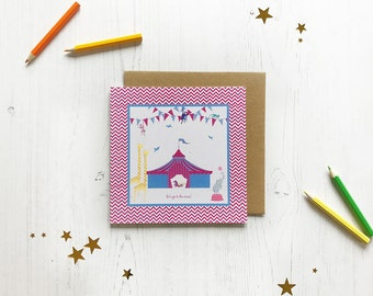 Let's go to the circus greeting card