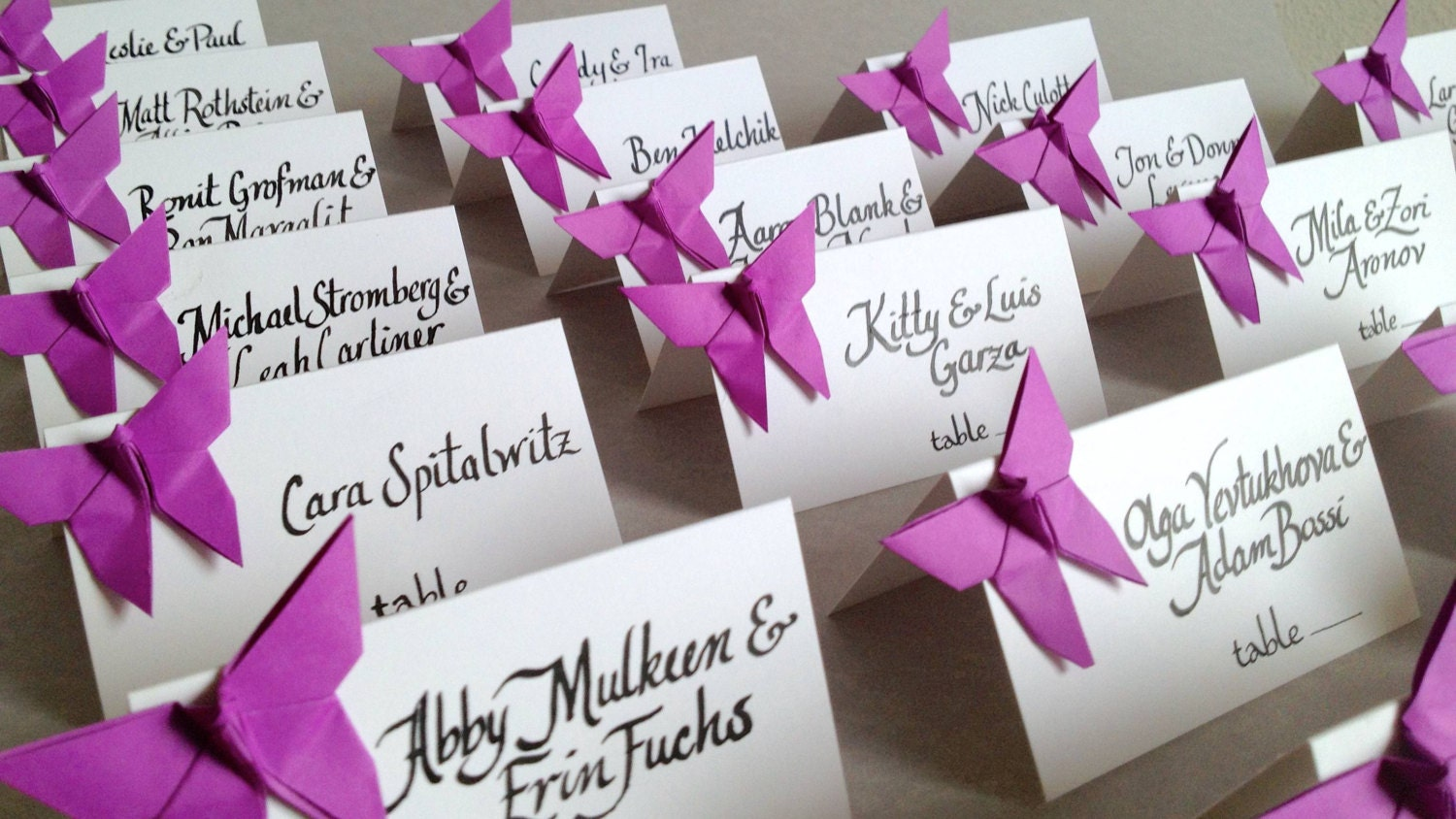 Origami butterfly place cards wedding escort cards favor zoom jeuxipadfo Choice Image