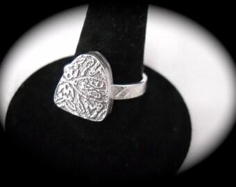 Shield Hollowform Ring Size 8 1/2