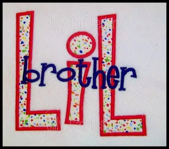 Big/Lil Brother Applique Design