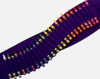 Kids Crayon Bandolier | Purple