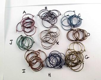 TITANIUM HOOP.  choose size. titanium earring. piercing hoop. sleeper. cartilage. conch hoop. hypoallergenic.nickel free No.00E254