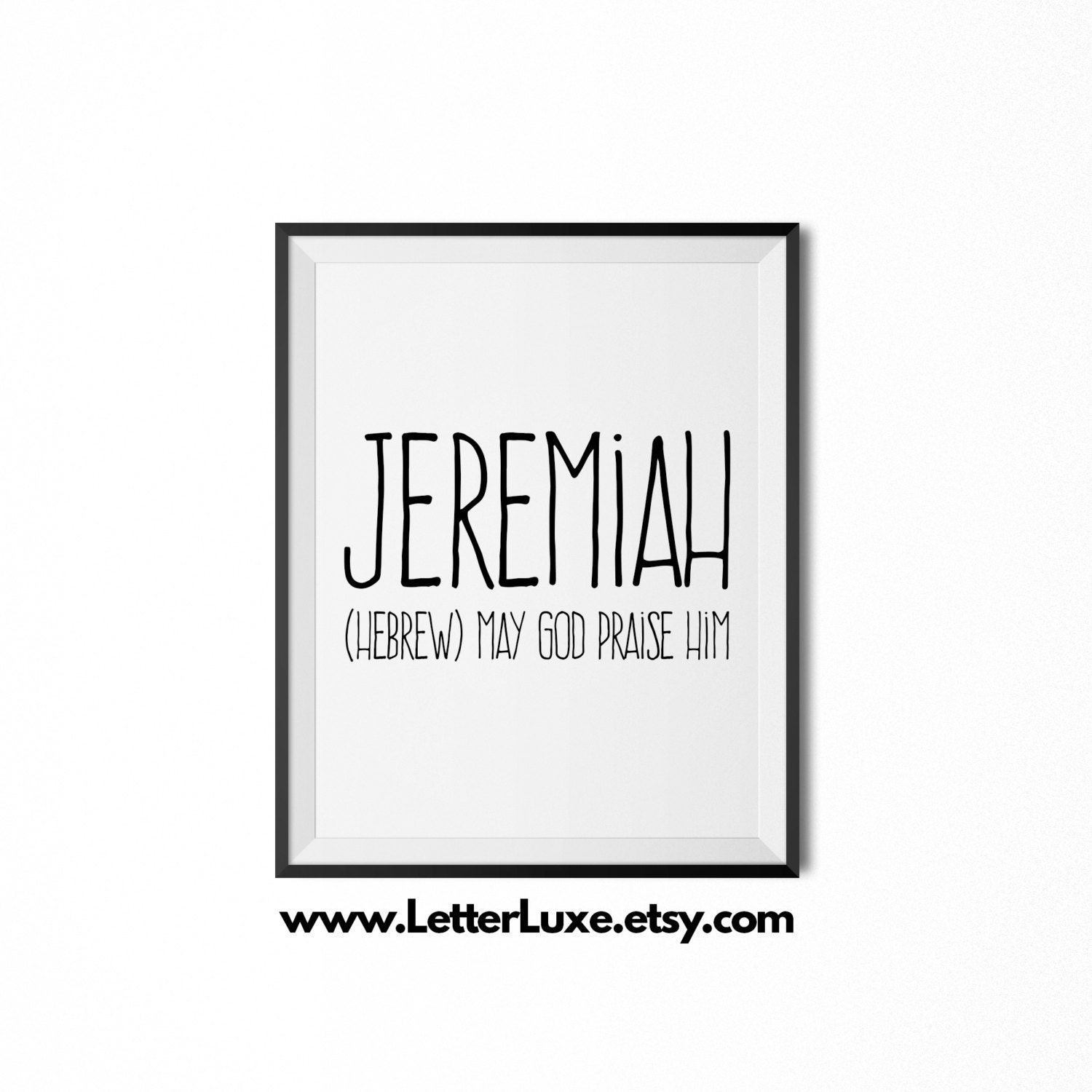 Jeremiah Name Meaning Art Printable Baby Shower Gift