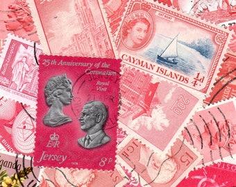 Pink Swedish Pink Vintage Postage Stamps