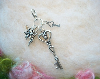 Keychain Charms Fairy Key Zipper Gripper Backpack Purse Sleeping Bag Lunch Bag Charm Stocking Stuffer