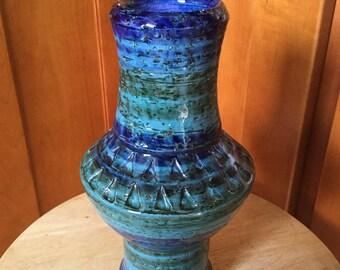 Vintage Bitossi Italian Art Pottery Brutalist Vase