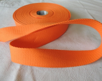 Strap bagagere cotton Orange width 30 mm