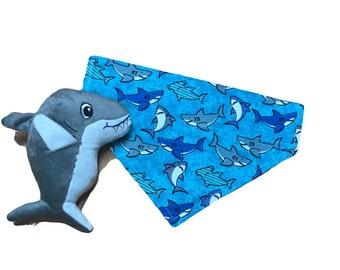 Shark Attack Print Bandana Dogdana Catdana Dana Over the Collar