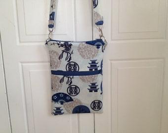 Pagoda Print Crossbody Bag