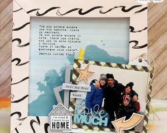 Cornice porta foto - festa della mamma - festa del papà- idee regalo
