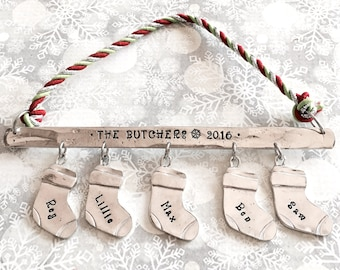 Personalized Ornament - Christmas Stocking Ornament - Personalized Family Ornament - 2017 Holiday Ornament - Family Keepsake Ornament