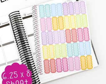 LS145 Spring Palette Scalloped Appointment Boxes!  Set of 40 Apt Box Vinyl Planner Stickers, Perfect for the Erin Condren Planner!!!