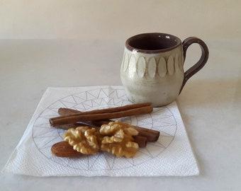Handmade ceramic Turkish coffee or espresso mug