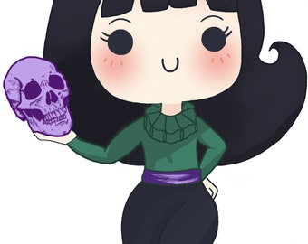 "Order of the Good Death ""Caitlin"" Chibi Sticker"