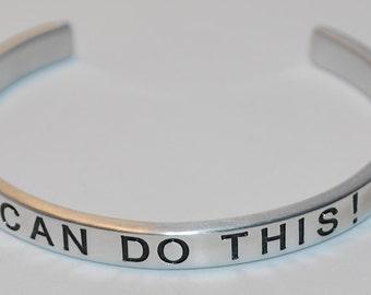 I Can Do This !   | Handmade Cuff Bracelet