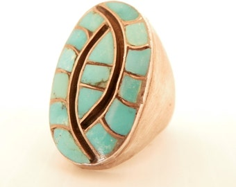 Men's Turquoise Sterling Silver Ring
