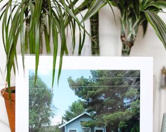 USA Suburbs Pastel Mounted Photographic Wall Art